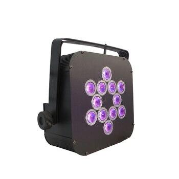 Uzaktan Kumanda 12*15W pille çalışan LED Düz Par Can