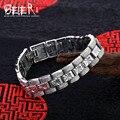 Polonês mão cadeia beier 925 pulseira de prata do vintage do punk homem pulseira elo da cadeia dos homens acessórios jóias sctysl0183
