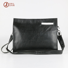 JOYIR New Arrival Genuine Leather Bag Men Envelope Clutch Bag Ipad Cases Solid Black Luxury Handbag Big Purse Wallet Men Bag3355