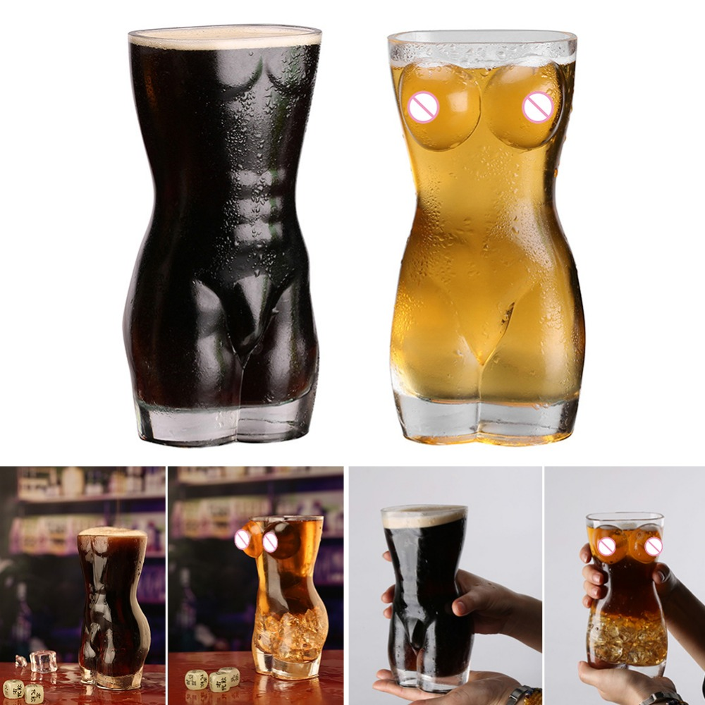 New Sexy Lady Men Durable Double Wall Whiskey Glasses Wine Shot Glass Big Chest Beer Cup 30ml /700ml Bar Nightclub Wine Glass 3