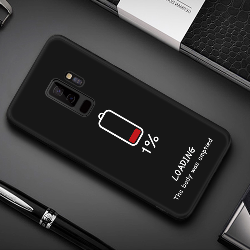 Pattern Case For Samsung Galaxy S8 S9 Plus Note 8 9 A8 A6 Plus 2018 A5 A7 2017 Black Matte Cover For Samsung 10 J4 J6 A9 S10 S10