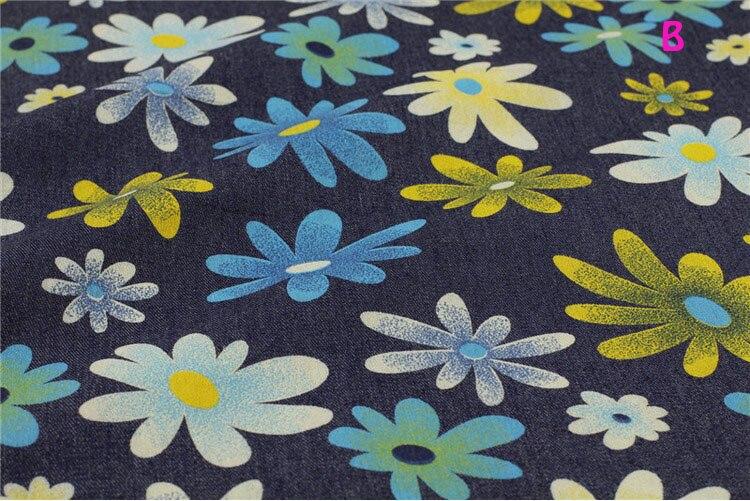 140 * 50cm1pc bun Denim 100% bumbac Fabric moale Stretch Denim Fabric - Arte, meșteșuguri și cusut - Fotografie 3
