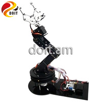 Original 6 dof Robot Arm+6PCS High Torque Servos(Metal gear)+Mechanical Claw + Large Metal Base+Full Metal Plate