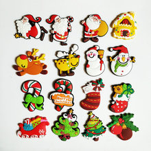 1Pcs silicone Cartoon Christmas fridge magnets whiteboard sticker Refrigerator Magnets Kids gifts Home Decoration Deer reindeer 1pcs mini silicone cartoon animal fridge magnets whiteboard sticker refrigerator magnets kids gift home decoration free shipping