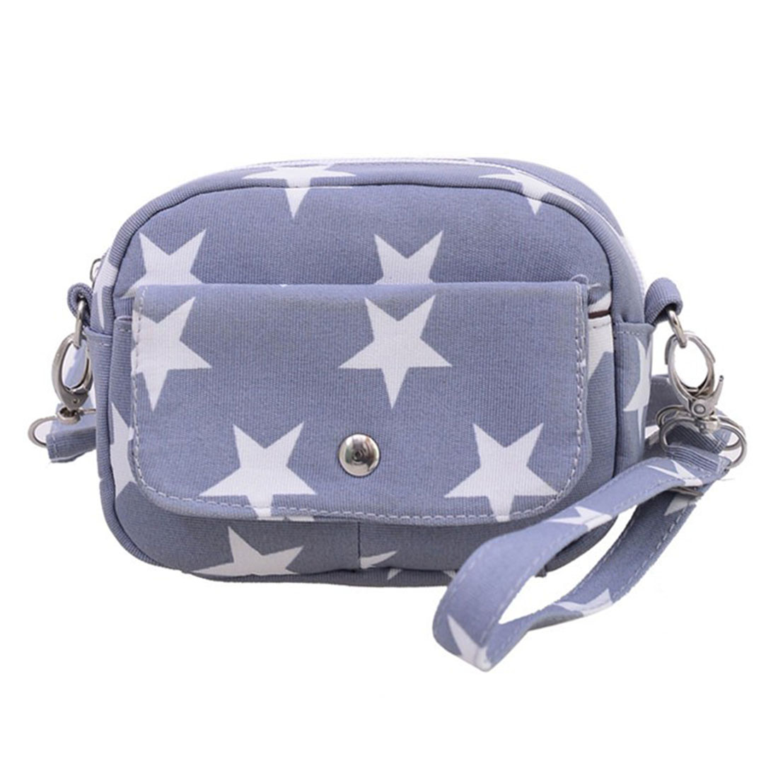 цены Women Clutches New Women Fashion Canvas Bags Mini Small Messenger Shoulder Bag Ladies Star Printed Casual Cross Body Handbag