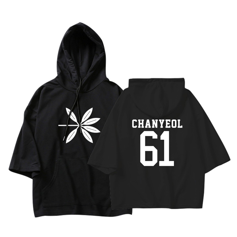 KPOP Korean Fashion EXO 4th Album THE WAR Logo Cotton Thin Hoodies Pullovers Hoode Sweatshirts PT585
