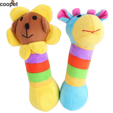 COOPET Hot selling pet toy Sunflower Rainbow deer 20CM Length plush sound squeaker Puppy Dog Doys jouet chien