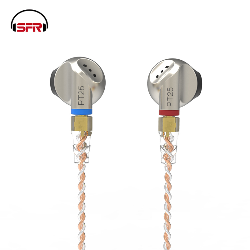 SFR SENFER PT25 In Ear Earphone Earburd Graphene Dynamic Driver Unit Metal Earbud HIFI Earplug With MMCX Detachable Detach Cable auglamour rt1 in ear hifi earphone ear hook metal earbud diy earplugs dynamic stereo music detachable cable