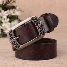Ladies Split Leather Pin Buckle Belt