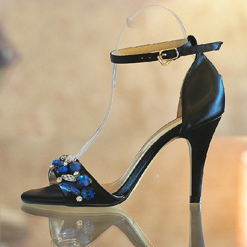 Summer Sexy Sandals for ladies Fashion High-heeled Woman Dress Shoes Banquet Evening Party Prom Shoes