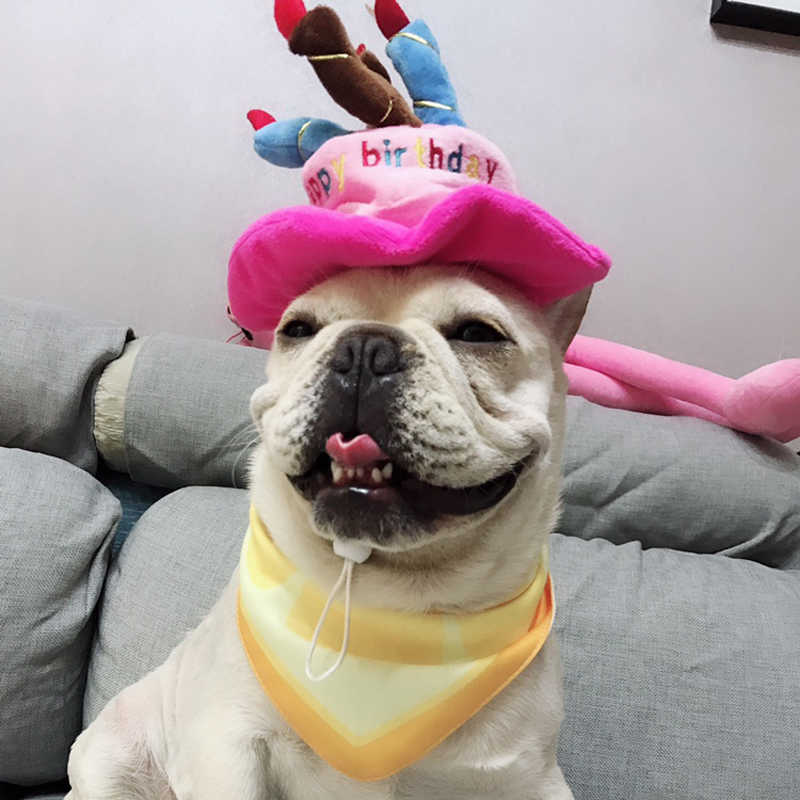 Pet Dog Birthday Hats Caps Funny Puppy Cat Headwear Cute Pets Hat Accessories For Small Dogs
