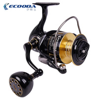 Ecooda Full Metal fishing reel KS12000 Spinning reel Boat fishing reel 7BB+1 Big fishing force Saltwater reel 25kg drag