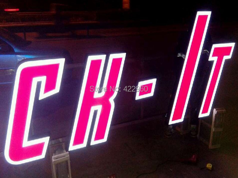 Factory Outlet Outdoor Acrylic Signs Channel Letter