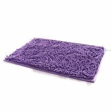 40*60cm Rectangle Shaped Water Absorbent Non Slip Soft Microfiber Chenille  Floor Rug Mat Bath Mat Carpet
