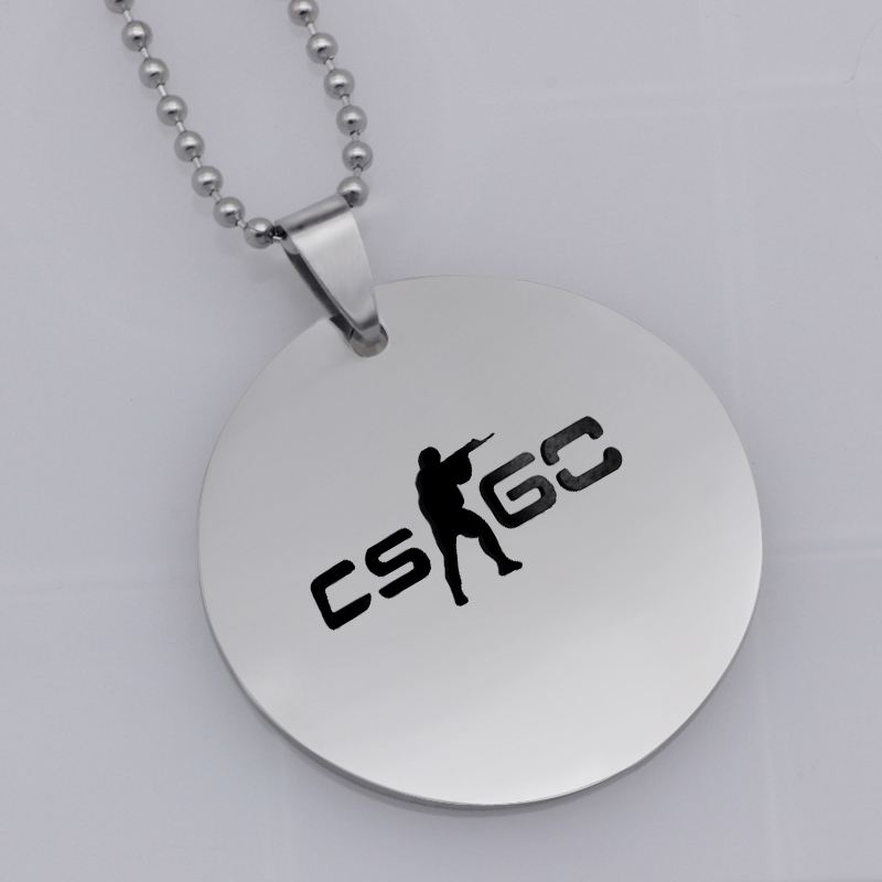 Ufine FPS Game pendant cs go games pendant stainless steel jewelry necklace Customed words or name necklace N463