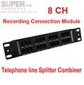 8ch telephone recorder box splitter telephone splitter combiner telephone Recording Connection Module for recorder converter