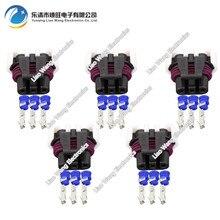 цена на 5 PCS 3 pin harness jacket waterproof plug connector with terminal block DJ7035Y-1.5-21 3P