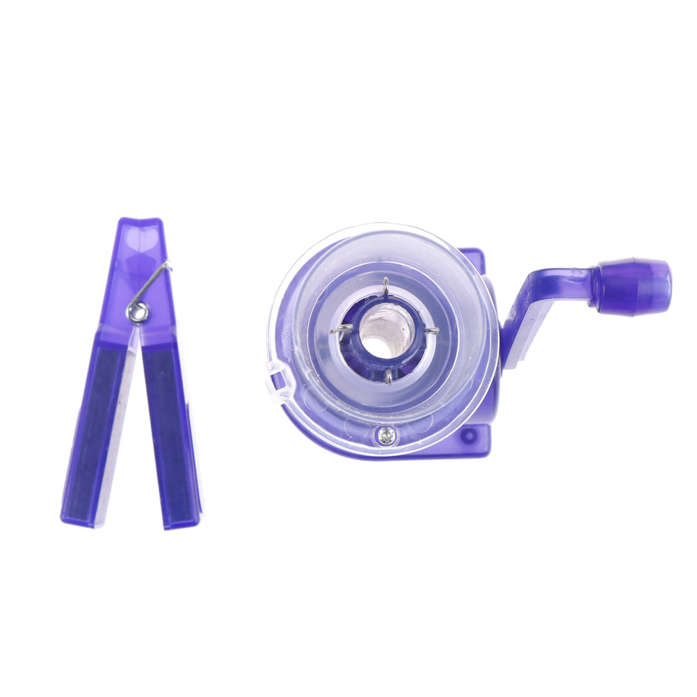 DIY Hand-operated Easy Simple Weaver Knitting Tool Crafts Sewing Mill Spool Knitter Wool Winder 1 Set