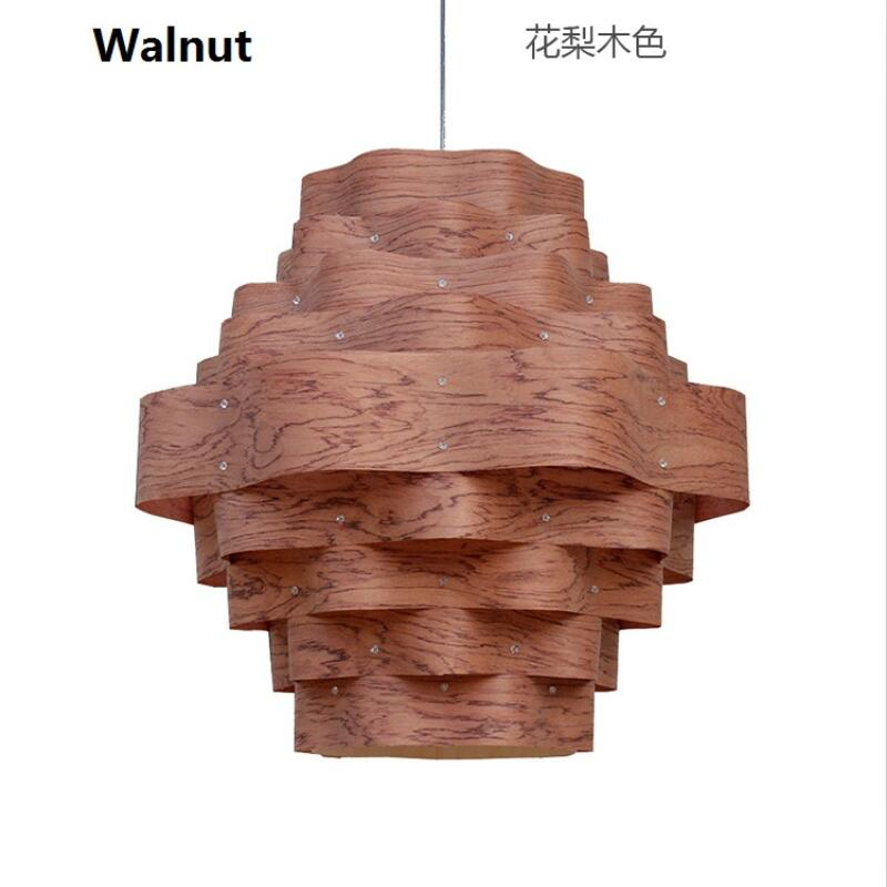 Modern Design Wooden Art Deco Chinese Style Wood Pendant Lamp For Restaurant Veneer Dining Room Master Room Lights Loft 110-240V modern chinese style bamboo pendant lamp living room lights restaurant hanglamp industrieel wooden veneer dining room lights