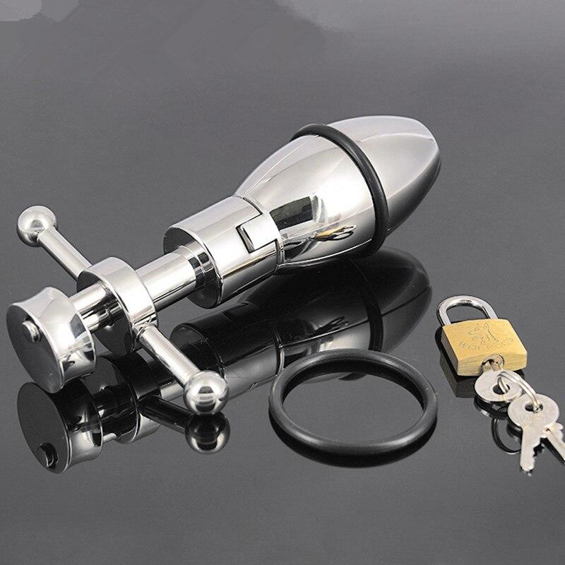 Металл Anal Plug с замком расширения ануса Butt игрушки Анальный расширитель секс-игрушки для секса женщин и мужчин H8-1-5
