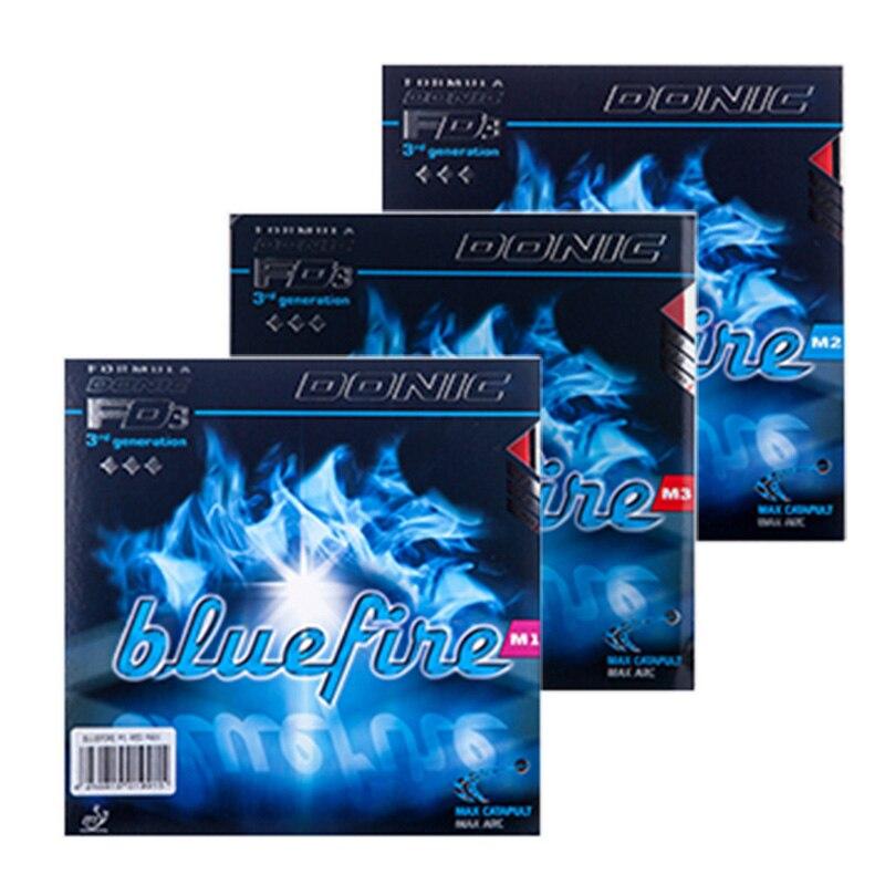 Donic D'origine Bleu feu M1/M2/M3 Bluefire Pips-en BLEU ÉPONGE Tennis De Table En Caoutchouc Forte Spin boutons Dans Ping-Pong En Caoutchouc