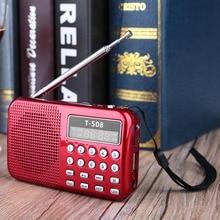 Mini Bolsillo de Radio FM TF USB reproductor de mp3 portátil de radio Portatil Altavoz Recargable FM Receptor de Radio Digital