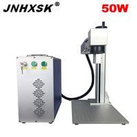 JNHXSK Raycus laser source 50w fiber laser marking machine/laser wire marking machine/jewelry laser marking machine
