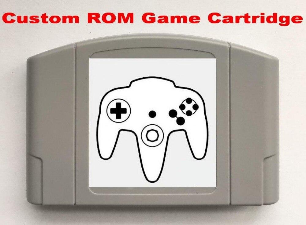 Custom Make Single Game Cartridge For PAL/NTSC N64 Console