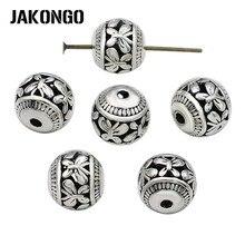 JAKONGO бусины-бабочки античные посеребренные полые свободные бусины для изготовления ювелирных изделий Аксессуары для браслетов 11 мм 8 шт