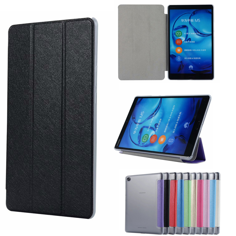 Slim Magnetic Transparent Folding Flip PU Case Cover For Huawei MediaPad M5 8.4 SHT-W09 SHT-AL09 8.4 inch Tablet Skin Case touchpad bluetooth case for huawei mediapad m5 8 4 inch sht w09 sht al09 tablet pc for huawei mediapad m5 8 4 keyboard case