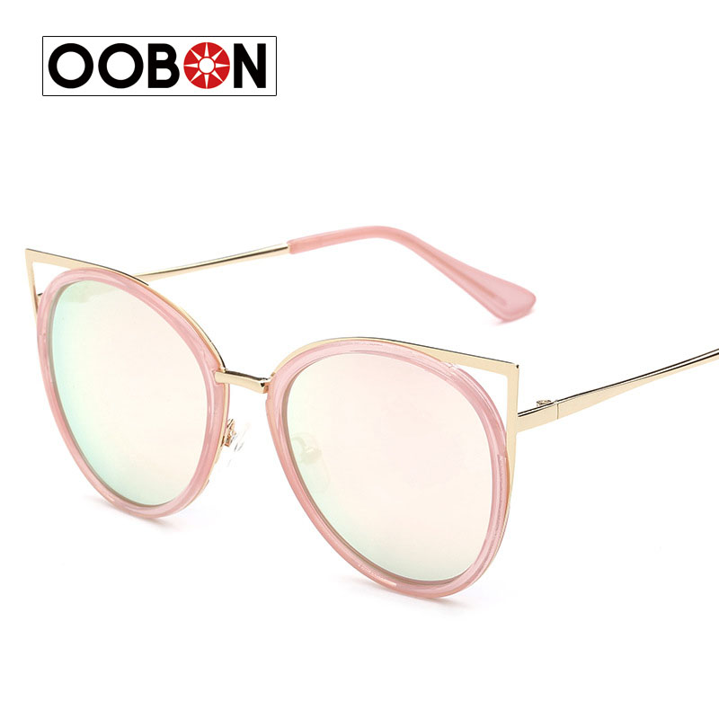 CVOO Sunglasses Women Cat Eye Sunglasses Round Frame Eyewear Coating Mirror Fashion Vintage Sun Glasses Goggle Female Xx4xzpIuje