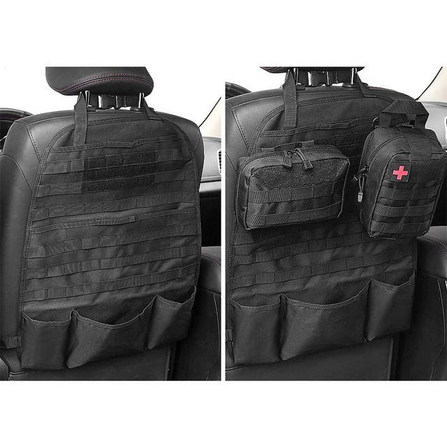 טקטי Molle רכב מושב אחורי ארגונית רכב צבאי מושב כיסוי ציד תיק מושב מגן אחסון תיק עבור חיצוני כלים