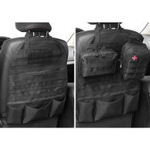 Tactical Molle Car Seat Back Organizer Vehicle Military Seat Cover Hunting Bag Seat Protector Storage Bag for Outdoor Tools