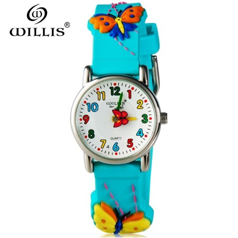 Willis Brand Time Teacher Little Boys Girls Childrens First Wrist Kids Watches 3d Football Cartoon Character Relogio Feminine Watches