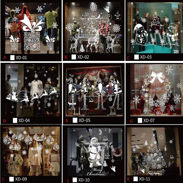 Рождественский снеговик съемный домашний виниловый оконный стикер на стену Наклейка Декор Горячая Распродажа рождественское прозрачное окно обои магазин