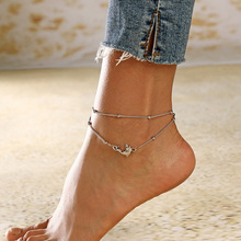 Anklet For Women Pearl Fashion Sexy Girls Heart Trend Jewelry Gift Beach Barefoot Simple Sandals Summer Charm Wedding