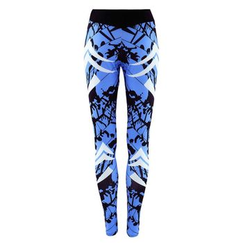 Women Print Slim Long Pants for Women