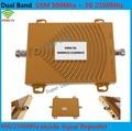 Hot! 65 dbi de banda dupla GSM 900 Mhz impulsionador + 3 G WCDMA 2100 Mhz repetidor de banda dupla repetidor GSM 3 G WCDMA GSM repetidor