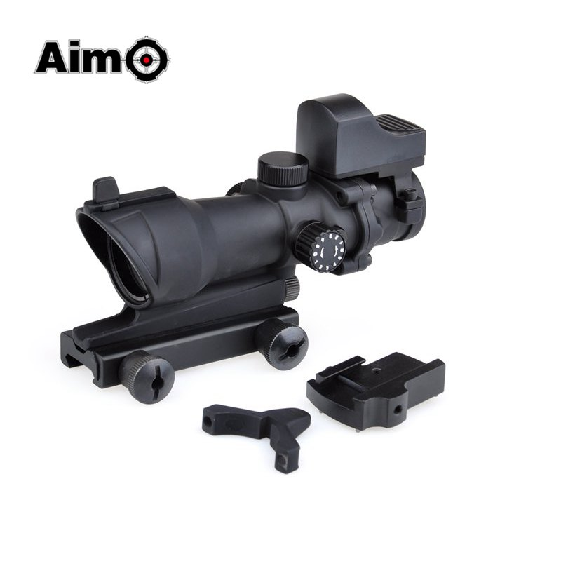 Aim-O Red Dot ACOG 4x32 Optical Hunting Riflescope Reflex Sight Red / Green Reticle With QD Mount For Air Gun AO5320