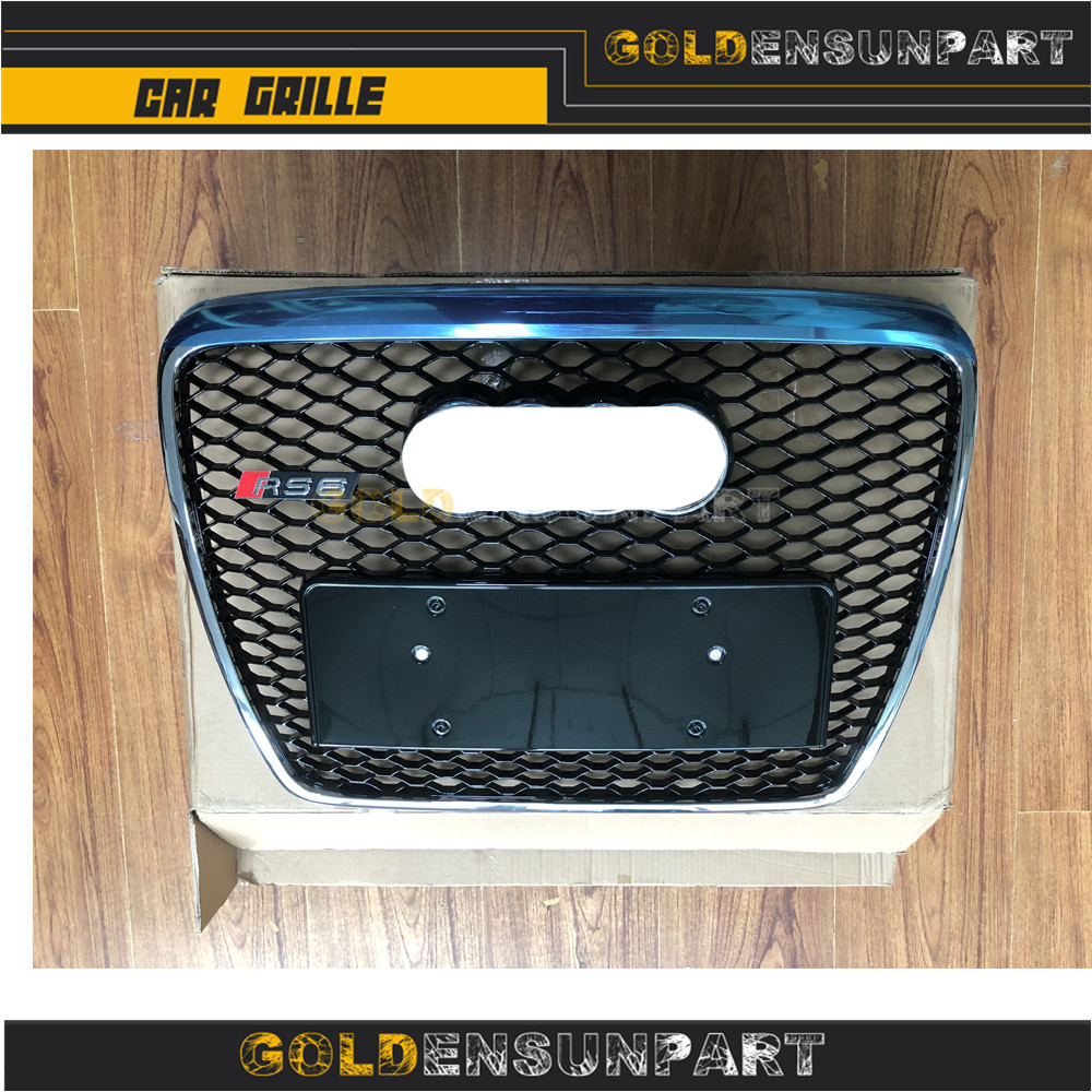 все цены на A6 c6 Car to a6 for Grill change 2005-2012 front Rs6 mesh styleing Mesh Honey Grille Front Grills year ABS онлайн