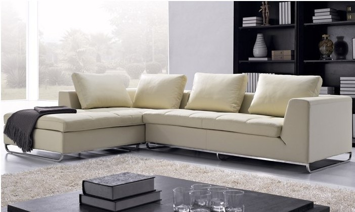 Free Shipping Arabic Living Room Sofas Top Grain Leather L Shaped Corner Modern Sofa Set 2013 New Design L8009 In From