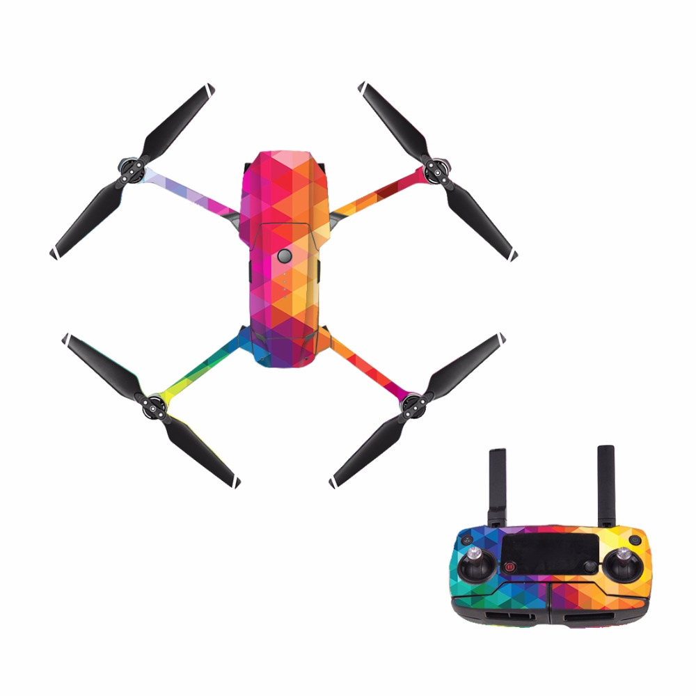 [M0060] Cool For DJI Mavic Pro Decal Skin Sticker Drone Body + Remote Controller + 3 Battery Protection Film Cover