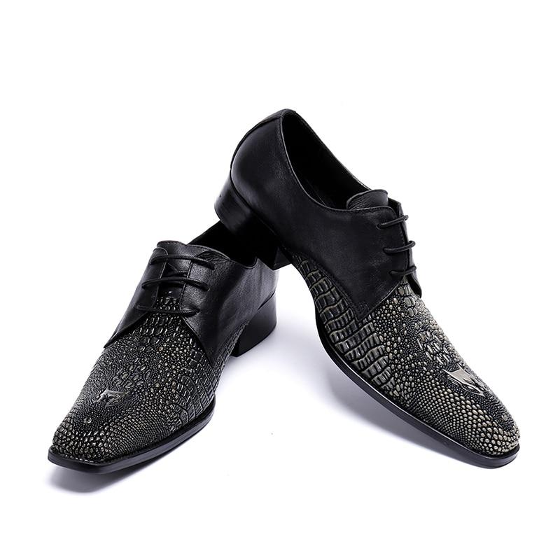 Bout Mariage D'affaires 37 De Chaussures Taille Grande Mâle pourpre rouge Pointu Hommes 2019 Formelle Zorssar Noir Mode Robe Nouveau Luxe Oxford 46 4qwgT70