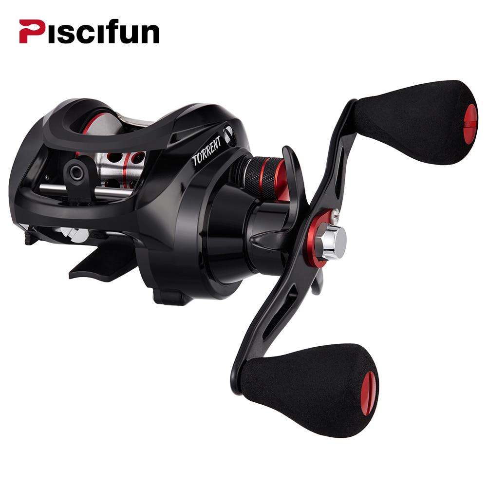 Piscifun Torrent fishing Reel 8.1kg Carbon Drag 7.1:1 Gear Ratio Magnetic Brake 6 Bearings Left right hand Baitcasting Reel