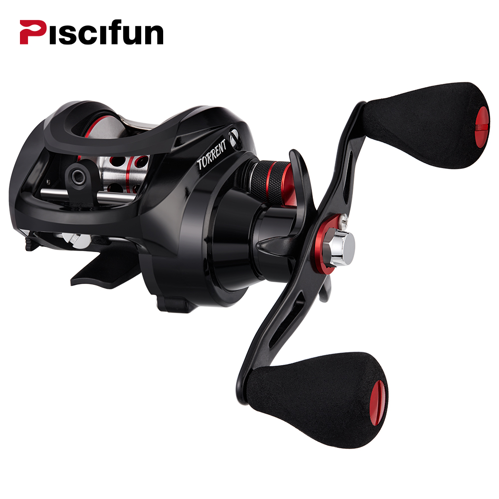 Piscifun Torrent fishing Reel 8.1kg Carbon Drag 7.1:1 Gear Ratio Magnetic Brake 6 Bearings Left right hand Baitcasting Reel