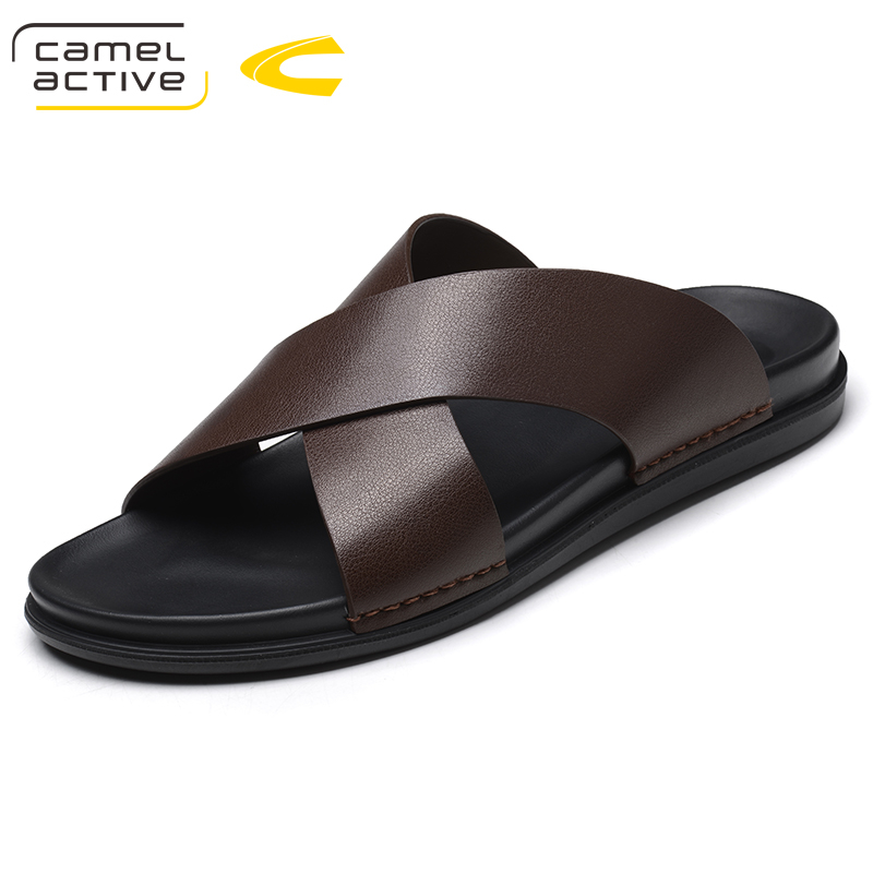все цены на Camel Active New Arrival Summer Men Slides High Quality Beach Slippers Non-slip Male Slippers Zapatos Hombre Casual Shoes Men