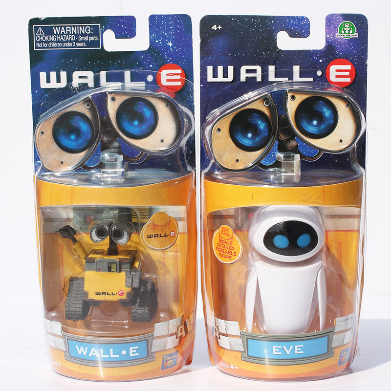 6cm~9cm Wall E Toy Wall E Eve Figure Toys Wall-E Robot Figures Dolls Retail сувенир disney thinkway toys wall e 6cm action figure loos
