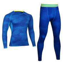 Men Pro Compression Fitness Winter Thermal Underwear Sets Quick Dry Gymming Male Spring Autumn Sporting Runs Yogaing Long Johns