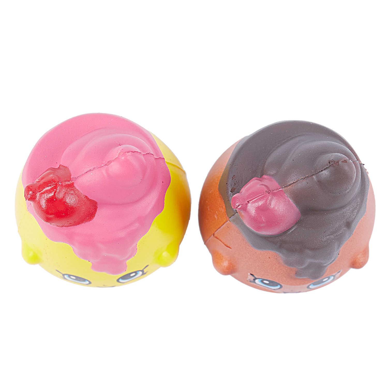 2 шт./компл. Kawaii мягкие Jumbo сжатие торта игрушки медленно поднимающийся Galaxy задняя крышка с рисунком радуги Ароматические супер мягкий снятие стресса Strawbe