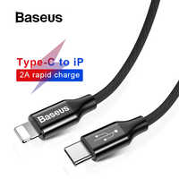 Baseus USB Type C to for iPhone 1M 2M Cable for Apple iPhone Tablet Charging Cable Nylon Braided USB C to 8 Pin Data Sync Cable